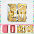 2016 New style Factory Direct Selling Professional 10in1 Beauty Pedicure Manicure Set Grooming Kit Case