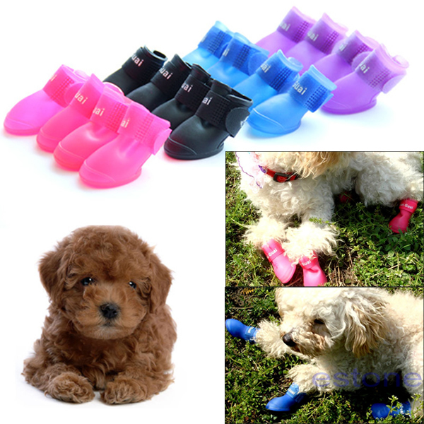 2016 new fashion high quality rainy season colorful anti Slip waterproof pet dog boots S M L size hot sale Cut prices to sell