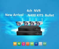 Vstarcam NVR KITS Plug And Play 4CH 1080P Wireless NVR Kit 720P Bullet Security IP Camera