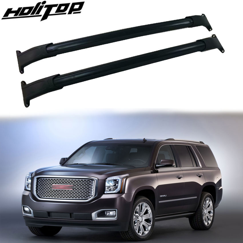Automobiles & Motorcycles Precise Hottest Roof Rack Rail Luggage Bar Cross Bar Match For Gmc.yukon 2015-2019,thicken Aluminum Alloy+abs.iso9001 Quality Control Delaying Senility Travel & Roadway Product