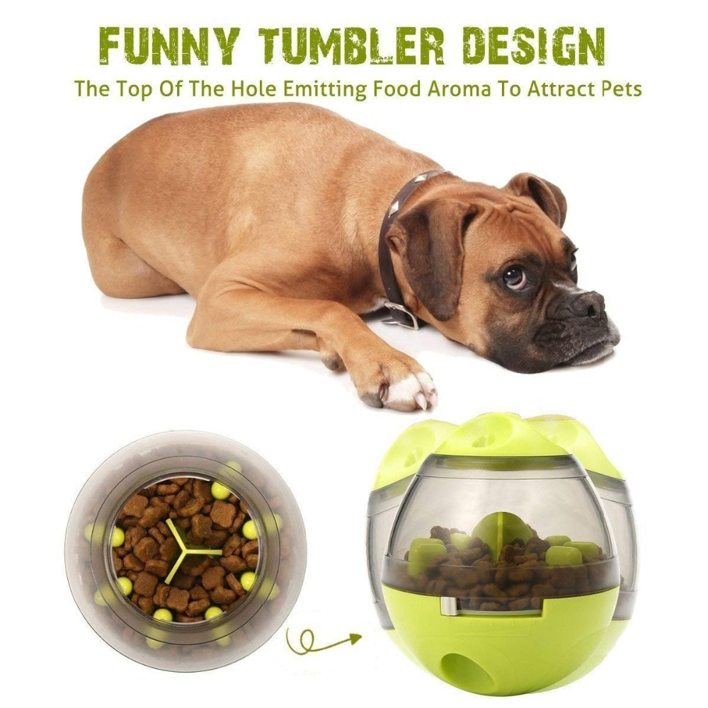 1Pcs Dogs Toys Pets Puppy Toys Smarter Tumbler Leakage Food Feeding Ball Anti-depression Pets IQ Training Magic Ball For Dogs 1