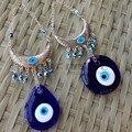 Turco Azul Decoração da Casa de Vidro Do Olho Do Mal Amuleto Protetor de Escritório Olho Afortunado-charme Rodada