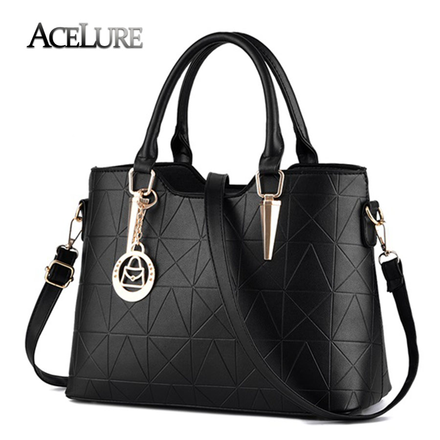 ACELURE Handbags pu female bag metal sheets decoration handbags sweet lady fashion handbags elegant luxury women shoulder bags new fashion indian fashion handbags female sweet lady styling with a gray lovely bear styling pu leather women bag luxury brand