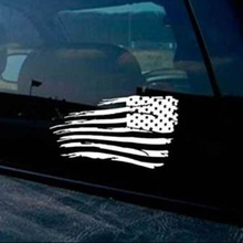 1 Pair America Flag Car Sticker Window Reflective Waterproof Auto Body Decoration