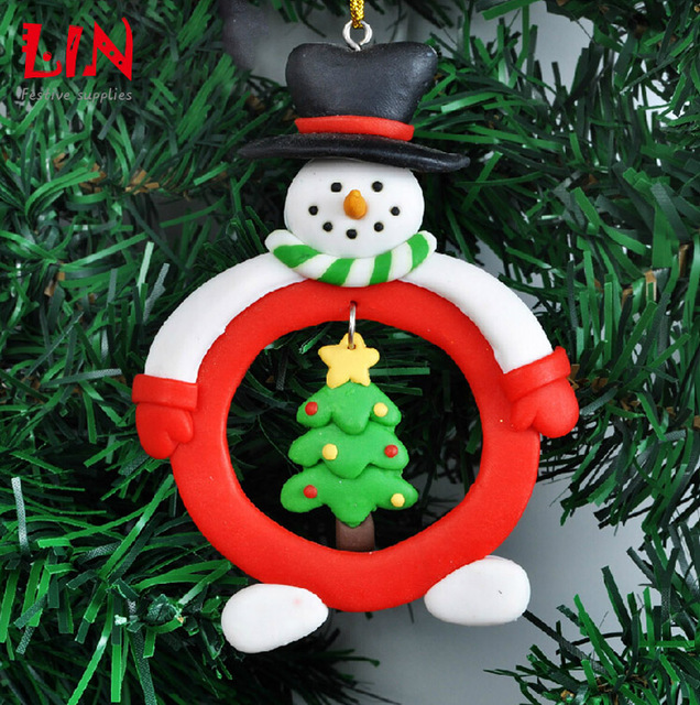 Us 4 99 Christmas Tree Ornaments Polymer Clay Delicate And Soft Clay Enfeites De Natal Adornos Navidad Craft Supplies Hanging Ornaments In