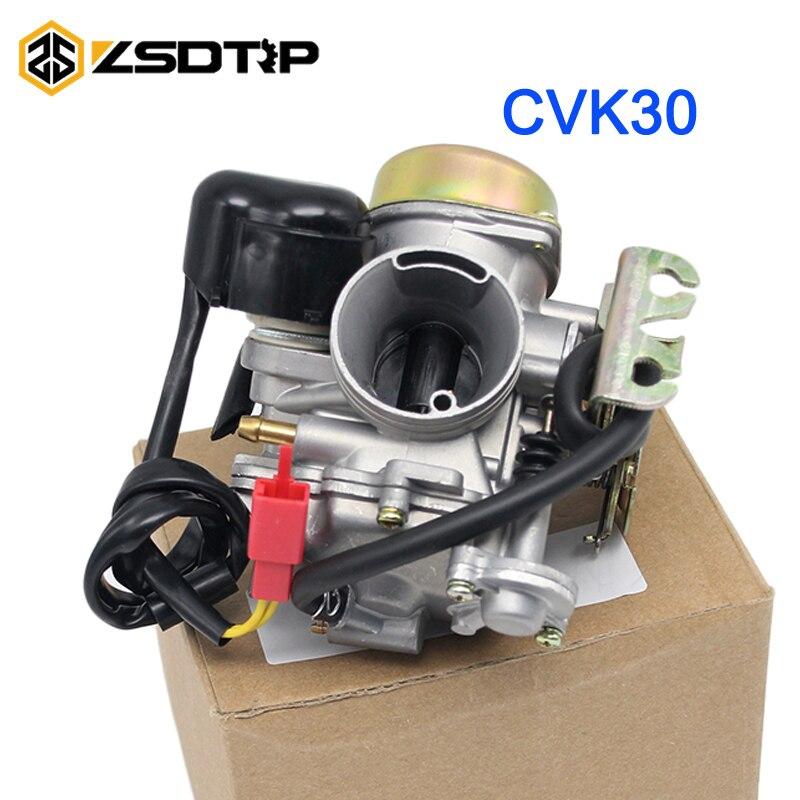 ZSDTRP avec chauffage CVK30 AN250 moto Carburateur pour AN250 Skywave/Burgman Linhai Aeolus VOG 260 300 RÉSERVOIR 260 YP250