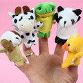 Hot Sale 10 pcs Animal Finger Puppet Plush Toys Cute Cartoon Puzzle Child Baby Favor Doll Holiday Gift For Kids Free Shipping