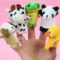 Venta caliente 10 unids Animal Marioneta de Dedo Juguetes de Peluche Lindo de la Historieta rompecabezas Niño Bebé Favor Muñeca Regalo de Navidad Para Niños Envío Gratis