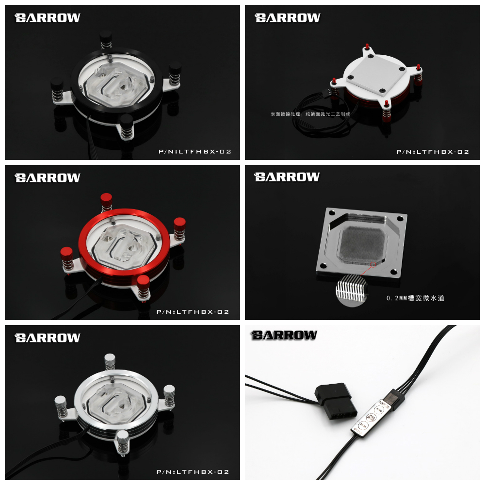 Barrow LTFHBX-02 RGB CPU Water Cooling CPU Block for Intel X99 LGA 2011 cpu cooling conductonaut 1g second liquid metal grease gpu coling reduce the temperature by 20 degrees centigrade
