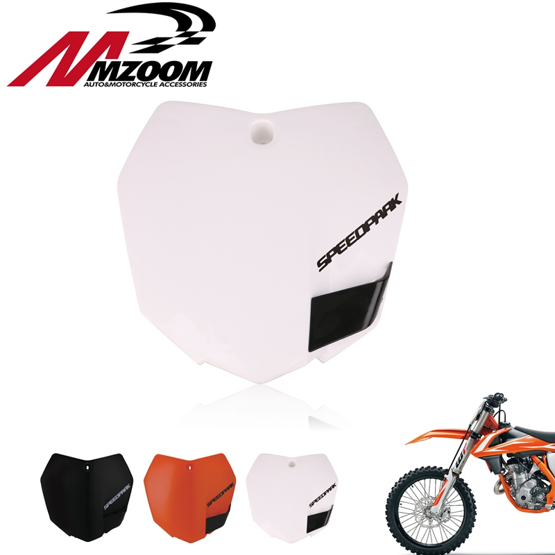 White Orange Plastic Front Name Number Plate For KTM 2013-15 SX SXF XCF 125 <font><b>250</b></font> 350 450 Dirt Bike Motocross <font><b>Enduro</b></font> image