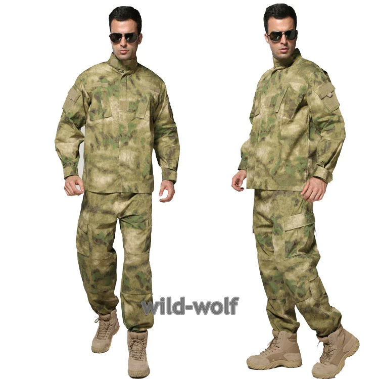 Army Military Jacket Military Field Camouflage Camo  Combat Airsoft Uniform Suit Sets A-tacs FG