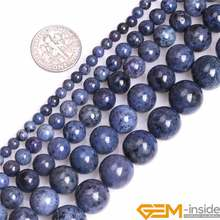 4/6/8/10/12mm A Grade Natural Dumortierite Stone Gem Stone Semi Precious Dark Blue Round Beads Loose Bead For Jewelry Making 15