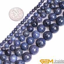 4/6/8/10/12mm A Grade Natural Dumortierite Stone Gem Semi Precious Dark Blue Round Beads Loose Bead For Jewelry Making 15