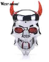 Cycling Safety Bicycle Rear Lamp Double LED Skull Crossbones 7 Modles Laser Tail Warning Flashing Lampfair