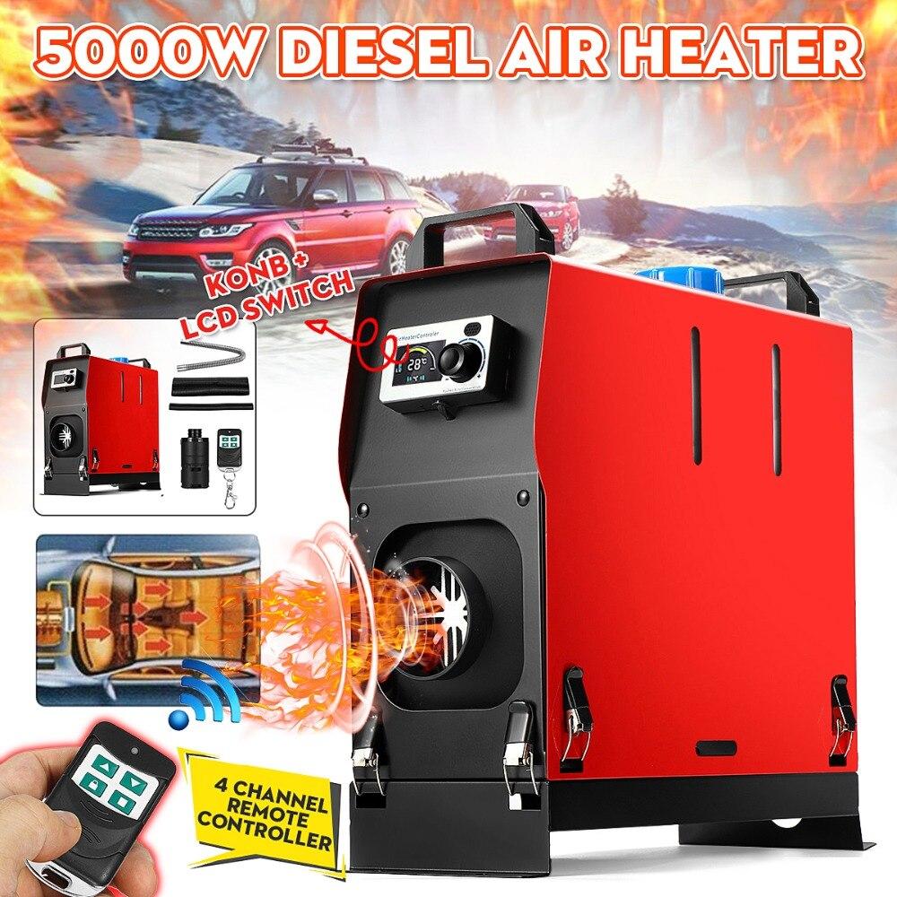 5KW 12 V Integração Único Buracos de Ar Diesel aquecedor de estacionamento ar Aquecedor Do Carro Com Controle Remoto do Interruptor Da Tela LCD de Poupança espaço