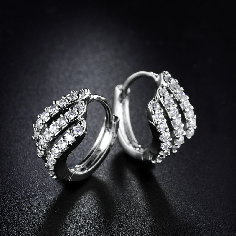 BUDONG Valentine's Day Gift Three Row Fashion Earing for Women - Fashion Jewelry - Photo 2