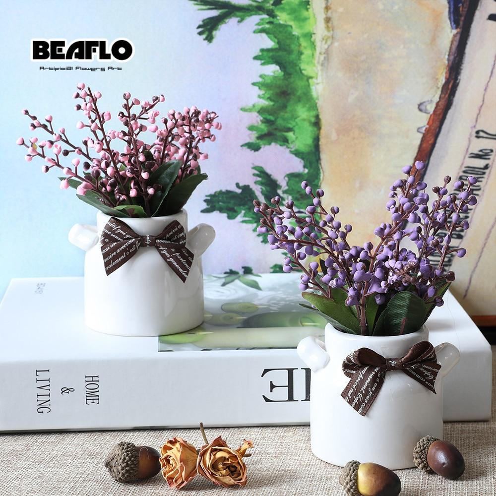 Alta calidad 1 sistema de flores artificiales Bonsai cerámica flor - Para fiestas y celebraciones