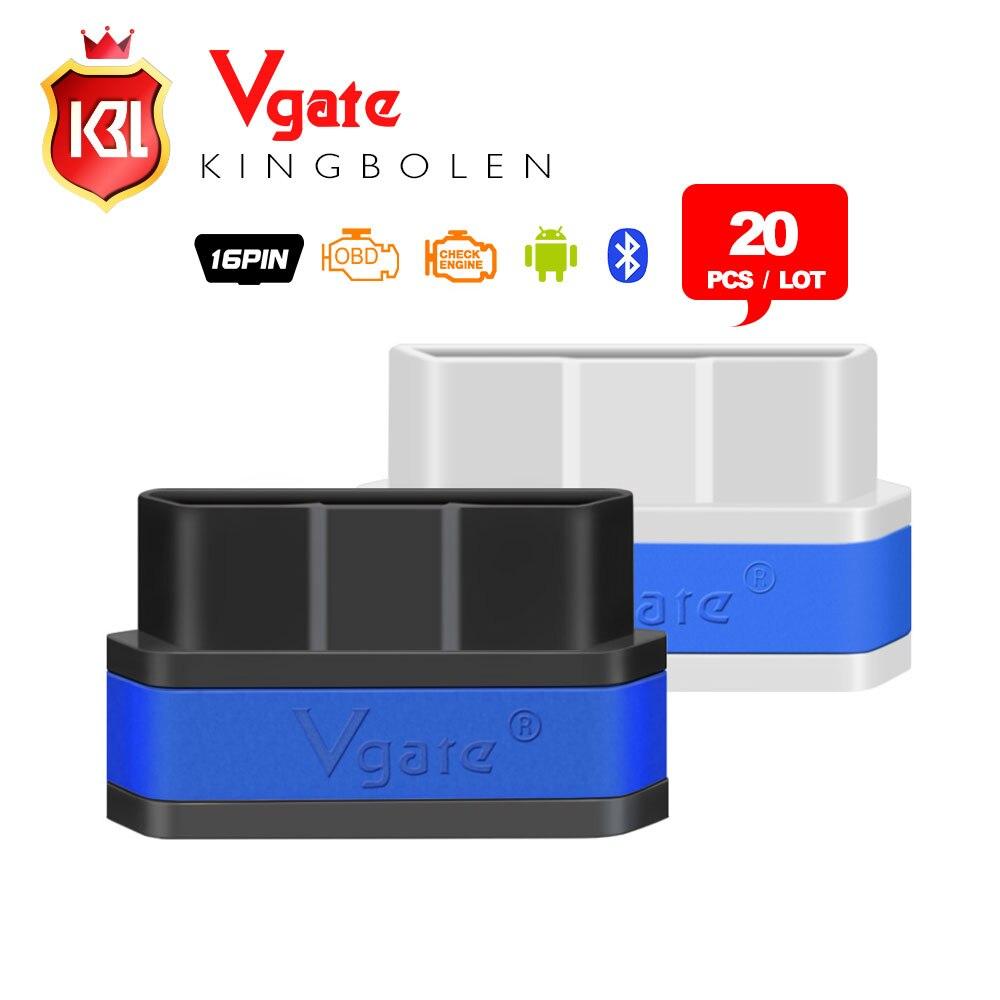 Prix pour 20 PCS/LOT D'origine Vgate iCar 2 Bluetooth OBDII ELM327 iCar2 Bluetooth vgate OBD interface de diagnostic pour Android 8 couleurs