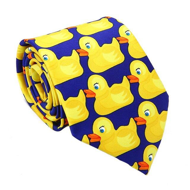 73c654f67 Yellow Rubber Duck Tie Men's Funny Ties Fashion Fancy Ducky Pattern  Professional Necktie Men's Wedding Daily Life Cute Ducky Tie