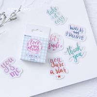 Красочные настроение Декоративные Канцелярские наклейки Скрапбукинг DIY Дневник Stick Label