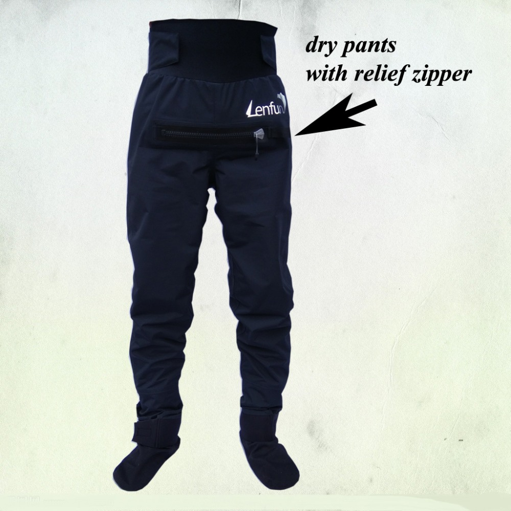 unisex pants,dry pants with relief zipper,waterproof socks fishingcanoeing,paddle sailing,Kayaking ,Sea Kayak,Flatwater,Rafting