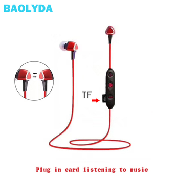Baolyda Sport Wireless Headphones Bluetooth Support TF Card  Bluetooth Earphone Stereo Headset in Mic Earbuds For iPhone Android