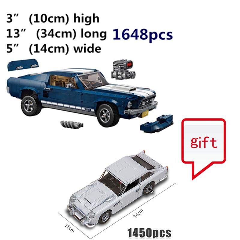 Acheter 10265 et envoyer 10264 comme un cadeau Technique Série 1967 Mustang GT Voiture blocs de construction Briques voiture enfants Modèle Cadeaux Jouets