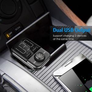 Image 5 - BT72 carica Rapida 3.0 Porte USB Doppio Caricabatteria Da Auto Senza Fili di Bluetooth FM Trasmettitore A mano libera MP3 Lettore Radio Adattatore modulatore