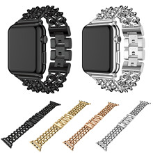 Cowboy Chain Stainless Steel Link Strap for Apple Bracelet 42mm 38mm