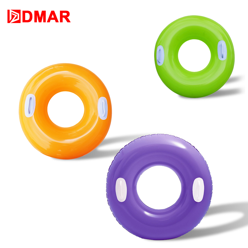 DMAR 76cm/30 Inflatable Swimming Ring For Adult Kids Pool Water Float Toys Mattress Beach Sea Lifebuoy Party Flamingo Unicorn