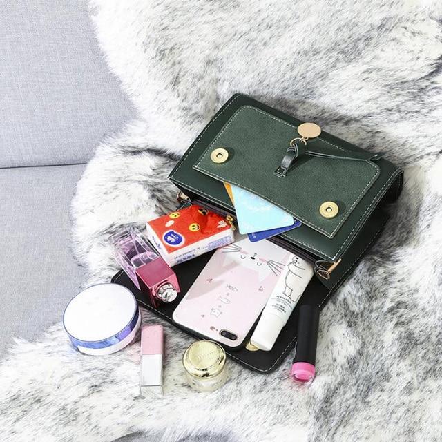 REPRCLA New Luxury Women Leather Handbag High Quality PU Shoulder Bag Brand Designer Crossbody Bags Small Fashion Ladies Bags 3