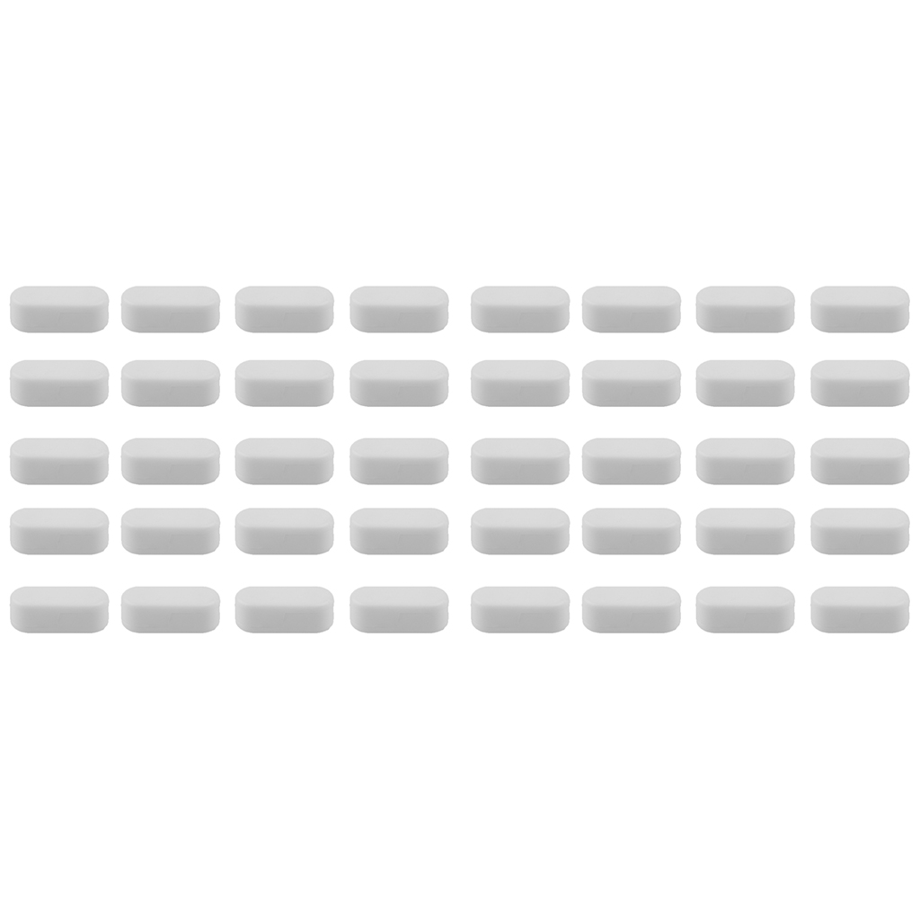 40pcs Plastic White Blind Chain Beaded Ball Chain Connector Clip