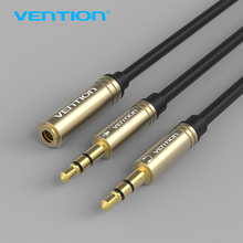 Vention 3.5mm Mic Audio Cable 1 Female to 2 Male Earphone Headphone AUX Splitter Cable for PC Laptop Tablet iPhone Xiaomi Huawei