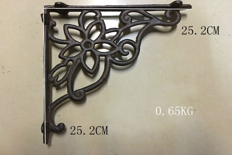2pcs one pair antique floral cast iron decorative shelf brackets wall mounted support - Decorative Shelf