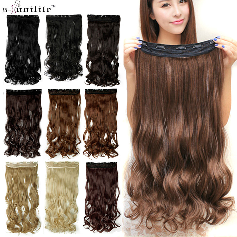 Soowee-60cm-Long-Synthetic-Hair-Clip-In-Hair-Extension-Heat-Resistant-Hairpiece-Natural-Wavy-Hair-Piece