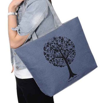 2017 Casual Women Leisure Large Capacity Tote Canvas Shoulder Bag Shopping Bag Beach Bags Fashion Tote Feminina