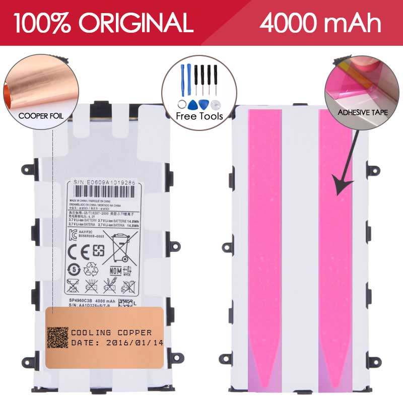 TEST ONE BY ONE SP4960C3B 4000mAh For Samsung Galaxy Tab 2 7 0 Samsung p6200 Battery