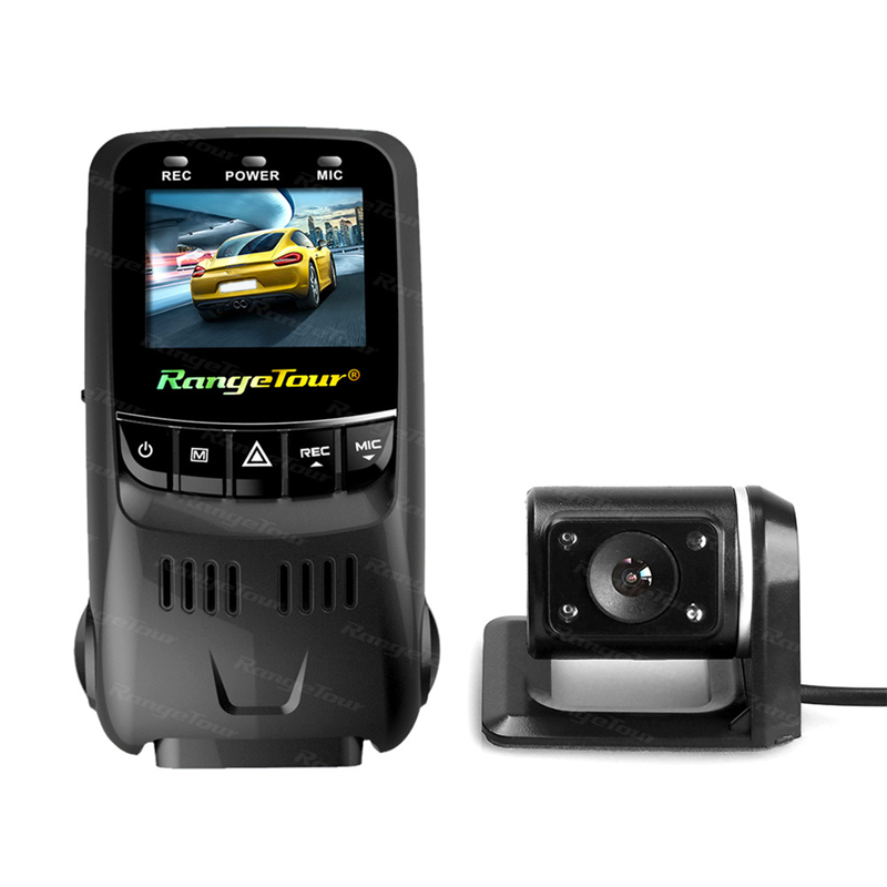 B40D Hidden Type HD Driving Recorder Novatek 96655 1.5 inches Car DVR with G-Sensor Records 170 Degree Wide Angle Lens