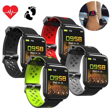 Colorful Sports Fitness Tracker Heart Rate Monitor Bluetooth Smart Watch Women Men Bracelet For Android iOS Samsung Huawei