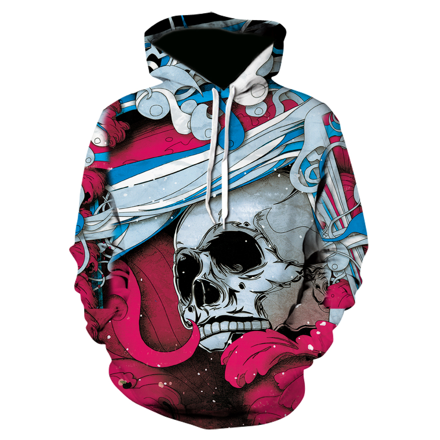 2018 New 3d Skull Hoodies Men Fashion Winter Autumn Streetwear Hip Hop Men/Women Hoodie Sweatshirt Tracksuit Brand Sweat Hoody
