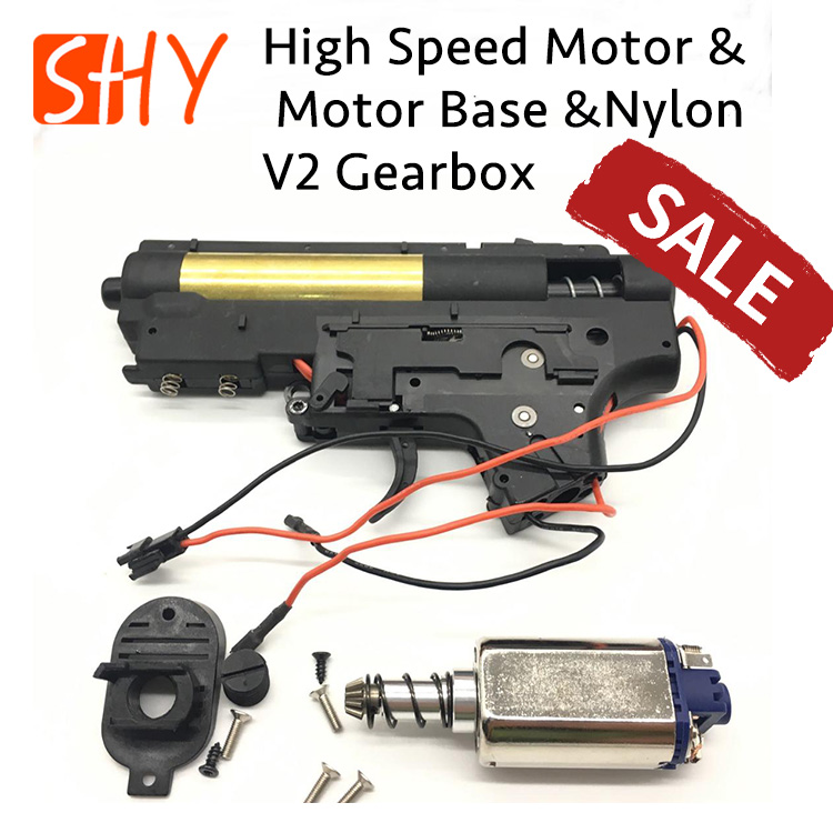 JingMing Gen9 J9 Water Gel Ball Blaster Spare Parts Accessories Upgraded Nylon V2 Gearbox With 480 Motor And Motor Base
