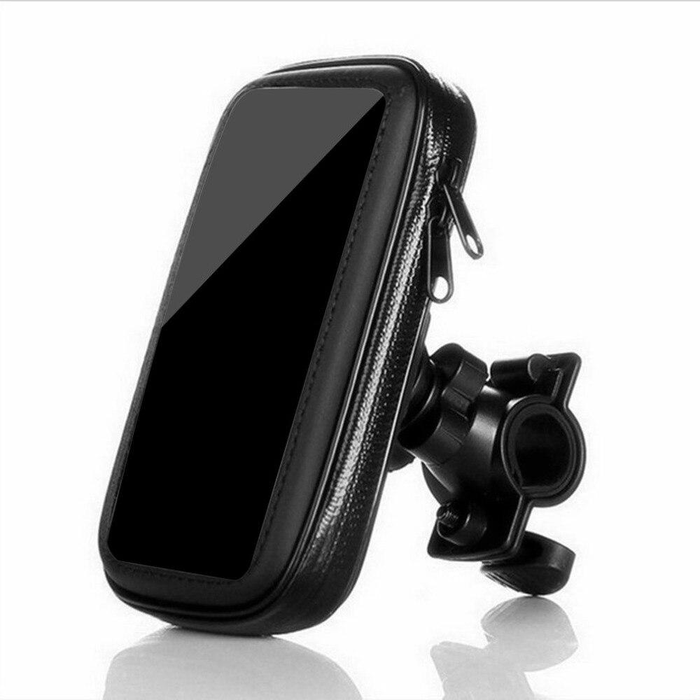 Bolsa de bicicleta impermeable para vehículos al aire libre motocicleta bicicleta teléfono móvil GPS navegación soporte de la caja soporte para 4,8 pulgadas 5 phon