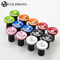 Fouriers MTB Bicycle Handlebar Ends Expanding Plugs CNC Alloy + Plastic Cap Kit Fit Inner Size 17mm to 21mm bicycle grip plug|grip plug|bicycle grips plug|bicycle grips -
