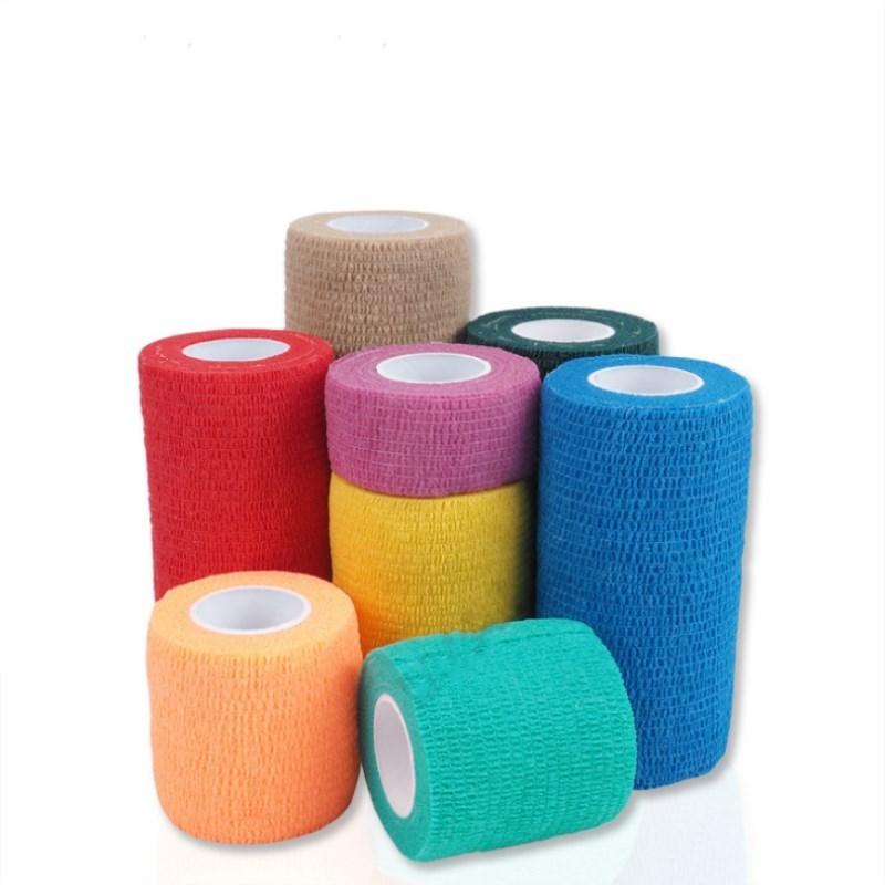 1 Pc Colorful Sport Elastoplast Self Adhesive Elastic Bandage Medical Wrap Tape 4.5m For Knee Support Finger Ankle Palm Shoulder