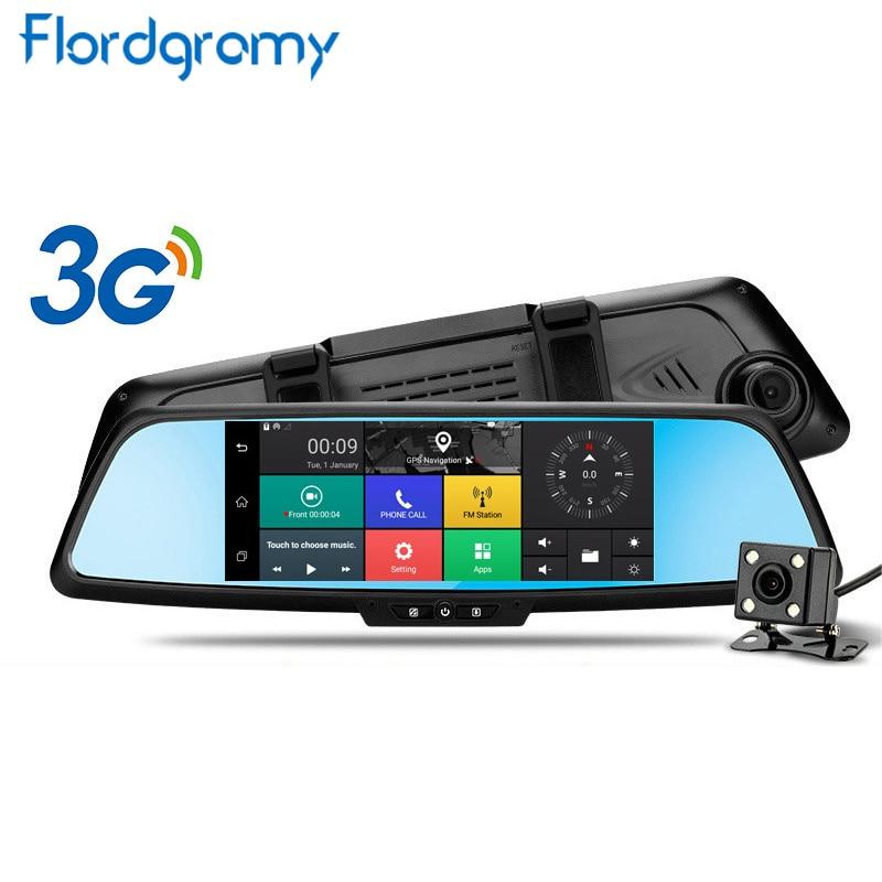 """imágenes para Flordgramy 7 """"3G Cámara Del Coche Android 5.0 Navegación GPS Del Coche DVR Grabador de Vídeo 1080 P DVR de Automóviles Espejo Dash cam"""