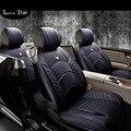 Cuatro estaciones del coche del amortiguador, cojín del asiento transpirable cojín de cuero artificial de la pu, cubierta de asiento universal, cojines de automóviles, fundas de asiento