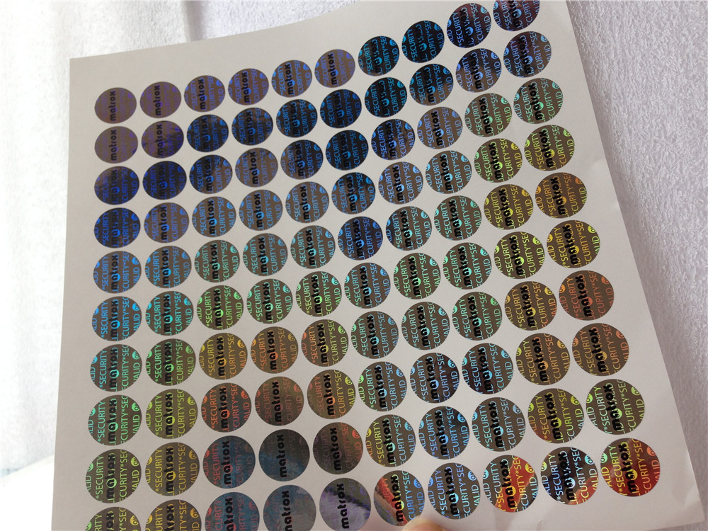 100000pcs Free Shipping Custom Printing Equipment Router Switch Tamper-evident Label Packing Seal Void Open Pop Hologram Sticker Lustrous Surface