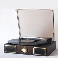 Nostalgic gramophone vinyl record player portable stereo LP turntables PC computer turntable record player