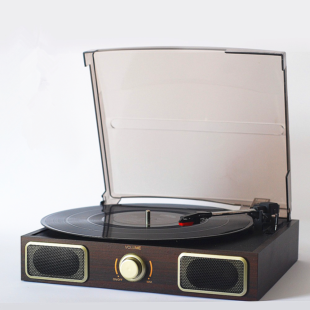 nostalgic gramophone vinyl record player portable stereo lp turntables pc computer turntable. Black Bedroom Furniture Sets. Home Design Ideas