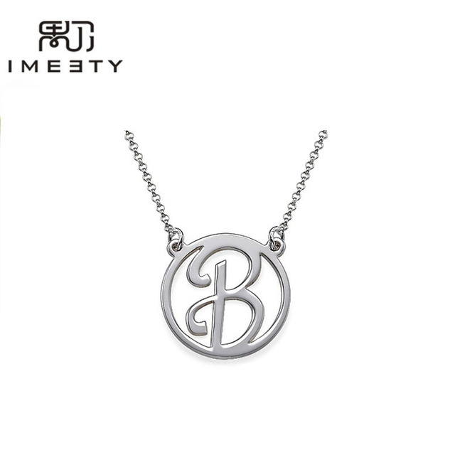 Fashion personalized initial jewelry sterling silver handmade circle fashion personalized initial jewelry sterling silver handmade circle pendant necklaces custom initial nameplate necklaces mozeypictures Gallery